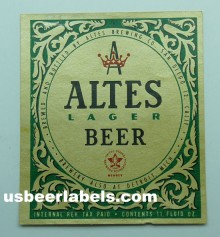 Altes Lager Beer Label