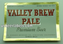 Valley Brew Pale Beer Label