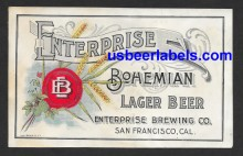Enterprise Bohemian Lager Beer Label