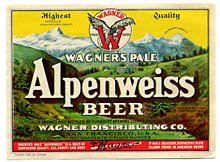 Wagners Pale Alpenweiss Beer Label