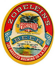 Zobeleins Eastside Beer Label