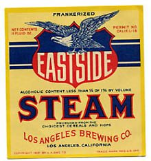 Eastside Steam Beer Label