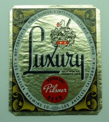 Luxury Pilsner Beer Label