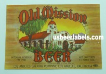 Old Mission Beer Label