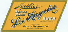 Los Angeles Extra Pale Beer Label