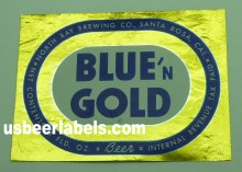 Blue n Gold Beer Label