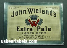 John Weilands Extra Pale Beer Label