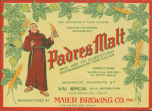 Padres Malt Beer Label