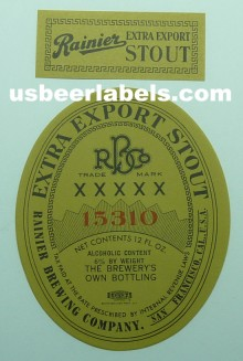 Extra Export Stout Beer Label
