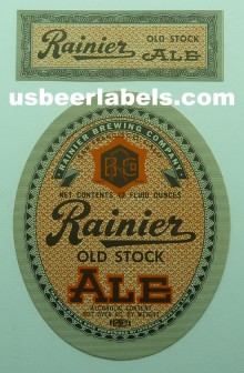 Old Stock Ale Beer Label