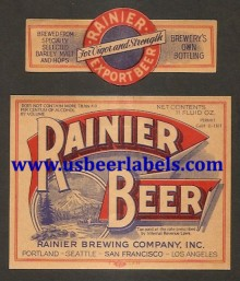 Beer Label Rainier Beer