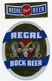 Regal Bock Beer Beer Label