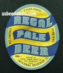 Regal Pale Beer Label