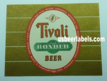 Tivoli Bonded Beer Label