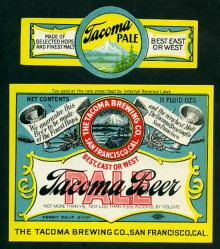 Tacoma Pale Beer Label