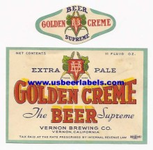 Golden Creme Beer Label
