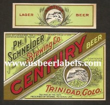 Beer Label Century Beer