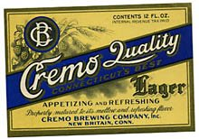 Cremo Quality Lager Beer Label