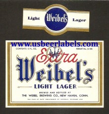 Beer Label Weibels Light Lager