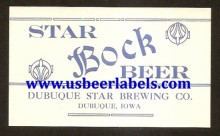 Beer Label Star Bock Beer