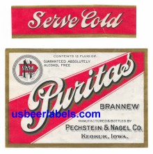 Puritas Brannew Beer Label