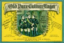 Old Pure Culture Lager Beer Label