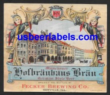 Hofbrauhaus Brau Beer Label