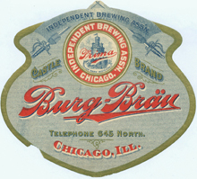 Burg Brau Beer Label