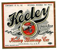 Keeley Lager Beer Label