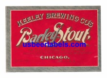 Barley Stout Beer Label