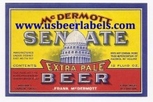 Beer Label Senate Extra Pale