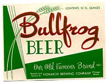 Bullfrog Beer Label