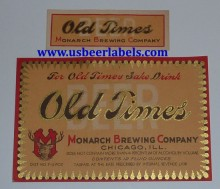 Old Times Beer Label