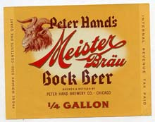 Meister Brau Bock Beer Label