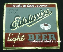 Edelweiss Light Beer Label