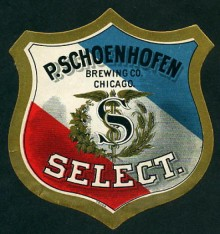 P. Schoenhoefen Select Beer Label