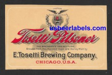 Tosetti Pilsener Beer Label