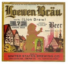 Loewen Brau Beer Label