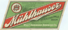 Muhlhauser Extra Pale Beer Label