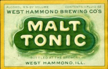 Malt Tonic Beer Label