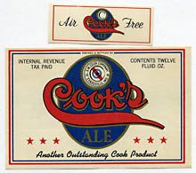 Cooks Ale Beer Label