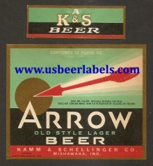 Beer Label Arrow Old Style Lager