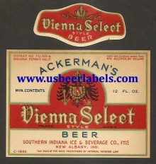 Beer Label Ackermans Vienna Select