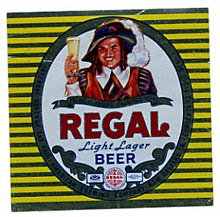 Regal Light Lager Beer Label