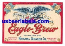 Eagle Brew Beer Label