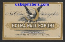 Extra Pale Export Beer Label