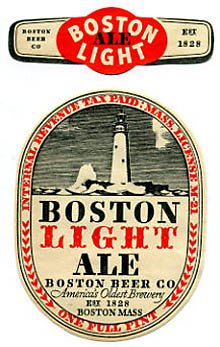 Boston Light Ale Beer Label