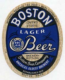Boston Lager Beer Label