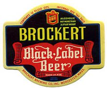 Brockert Black Label Beer Label