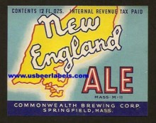 New England Ale Beer Label